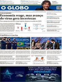 Capa do jornal O Globo 04/12/2020