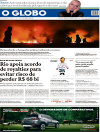 Capa do jornal O Globo 19/09/2020