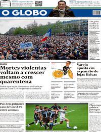 Capa do jornal O Globo 19/10/2020