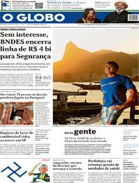 Capa O Globo 2020-01-20