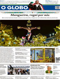 Capa O Globo 2020-02-24