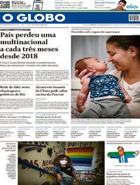 Capa do jornal O Globo 17/01/2021