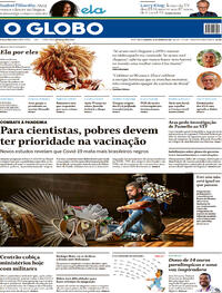 Capa do jornal O Globo 24/01/2021