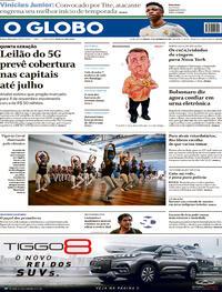 Capa do jornal O Globo 25/09/2021