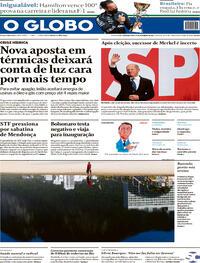 Capa do jornal O Globo 27/09/2021