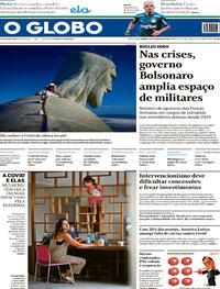 Capa do jornal O Globo 28/02/2021