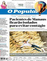 Capa do jornal O Popular 16/01/2021