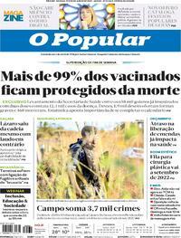 Capa do jornal O Popular 19/06/2021