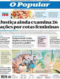 Capa do jornal O Popular 27/09/2021