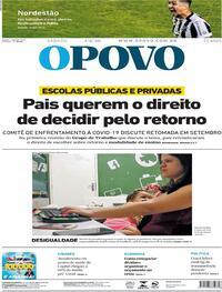 Capa do jornal O Povo 01/08/2020