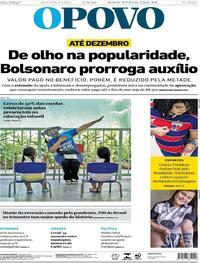 Capa do jornal O Povo 02/09/2020