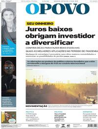 Capa do jornal O Povo 03/08/2020
