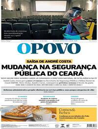 Capa do jornal O Povo 04/09/2020
