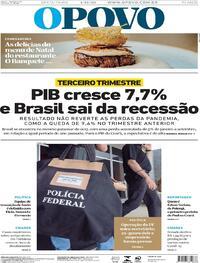 Capa do jornal O Povo 04/12/2020