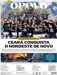 Capa do jornal O Povo 05/08/2020