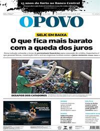 Capa do jornal O Povo 06/08/2020