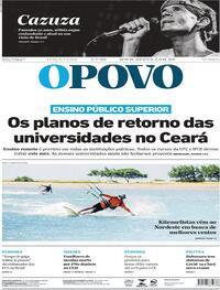 Capa do jornal O Povo 07/07/2020