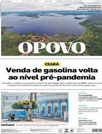 Capa do jornal O Povo 07/09/2020