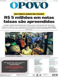 Capa do jornal O Povo 09/07/2020
