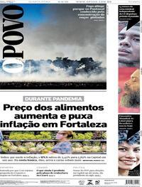 Capa do jornal O Povo 09/09/2020