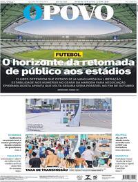 Capa do jornal O Povo 10/09/2020