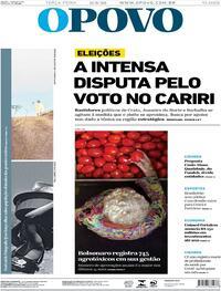 Capa do jornal O Povo 11/08/2020