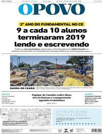 Capa do jornal O Povo 12/08/2020