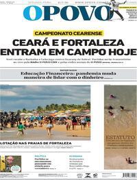Capa do jornal O Povo 13/07/2020