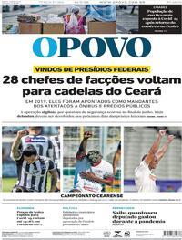 Capa do jornal O Povo 14/07/2020