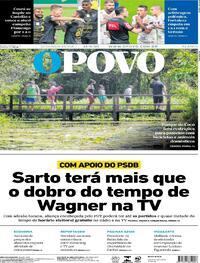 Capa do jornal O Povo 14/09/2020