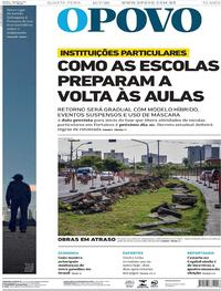Capa do jornal O Povo 15/07/2020