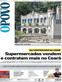 Capa do jornal O Povo 15/08/2020