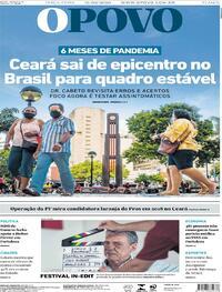 Capa do jornal O Povo 15/09/2020