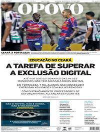 Capa do jornal O Povo 16/07/2020