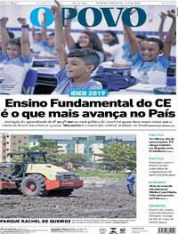 Capa do jornal O Povo 16/09/2020