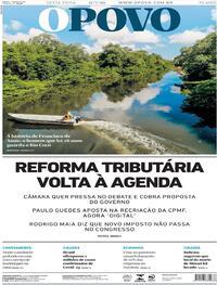 Capa do jornal O Povo 17/07/2020