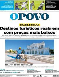 Capa do jornal O Povo 17/08/2020
