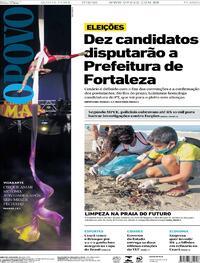 Capa do jornal O Povo 17/09/2020
