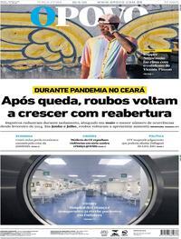 Capa do jornal O Povo 18/08/2020