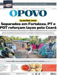 Capa do jornal O Povo 18/09/2020