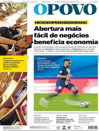 Capa do jornal O Povo 19/08/2020