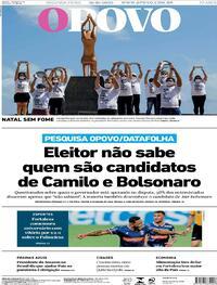 Capa do jornal O Povo 19/10/2020