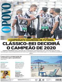 Capa do jornal O Povo 20/07/2020