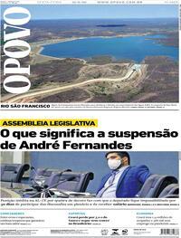 Capa do jornal O Povo 21/08/2020