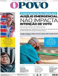 Capa do jornal O Povo 21/10/2020