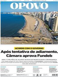 Capa do jornal O Povo 22/07/2020
