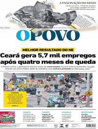 Capa do jornal O Povo 22/08/2020
