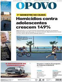 Capa do jornal O Povo 23/07/2020