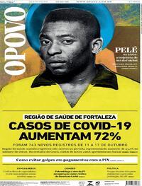Capa do jornal O Povo 23/10/2020
