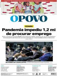 Capa do jornal O Povo 24/07/2020